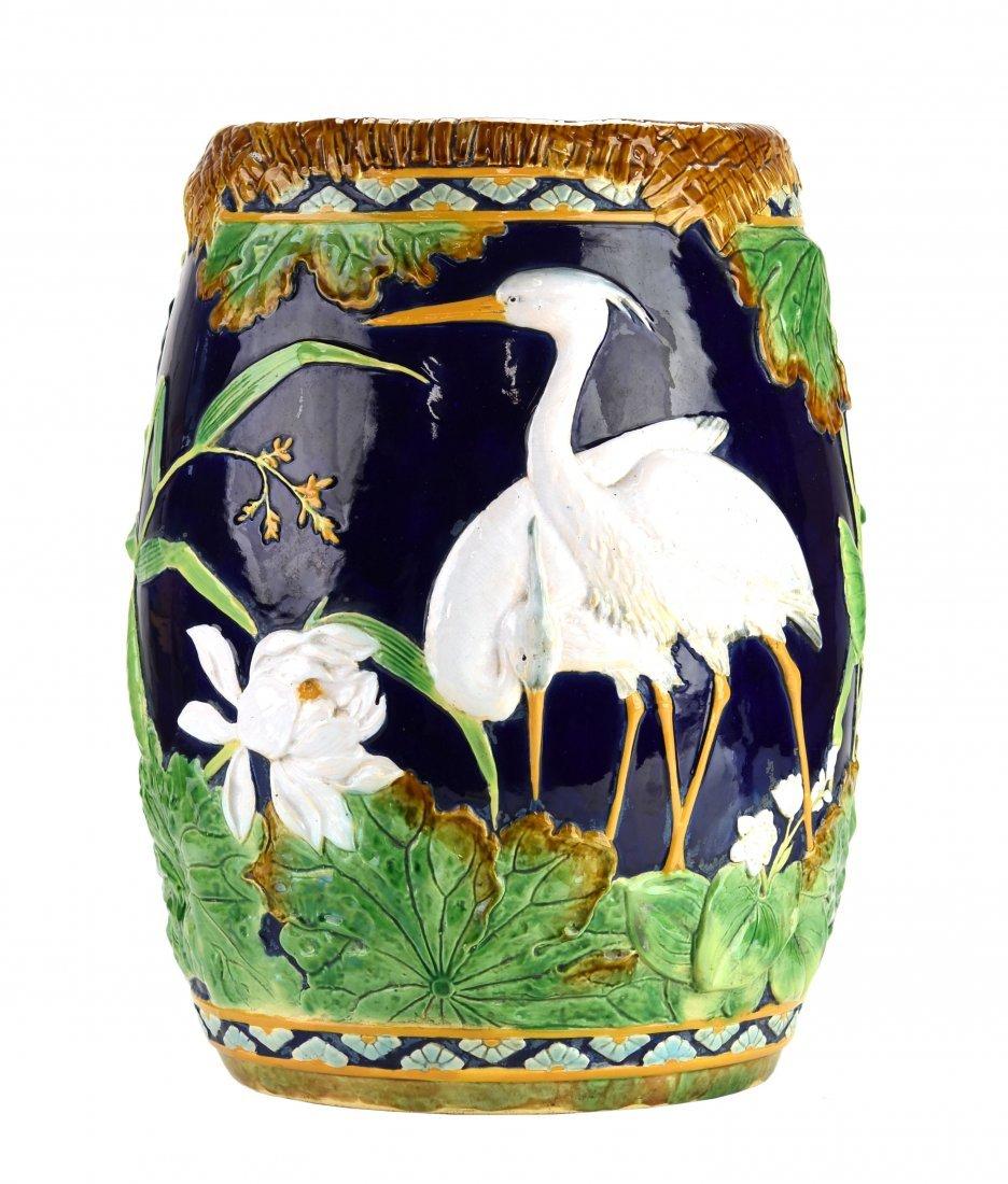 A George Jones Storks Garden Seat c.1875 The cobalt