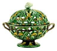 A Very Rare Wedgwood Majolica Orange Basket c.1860