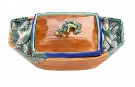 A Wedgwood Majolica 'Sardinia' Sardine Box and Cover