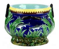 A Very Rare English Majolica Fish Bowl Planter c.1875