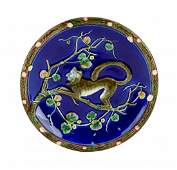 A Very Rare and Desirable Wedgwood Majolica Monkey