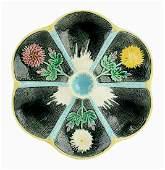 A Wedgwood Majolica Chrysanthemum Oyster Plate c.1865.