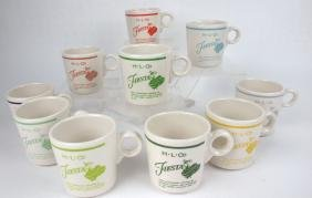 Fiesta Post 86 set of 10 dancing girl mugs