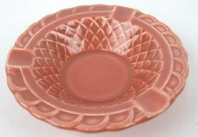 Fiesta Harlequin rose basketweave ash tray, minor rim