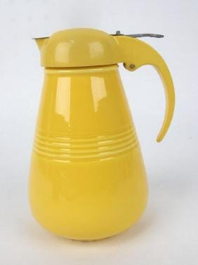 Fiesta Harlequin syrup pitcher, yellow