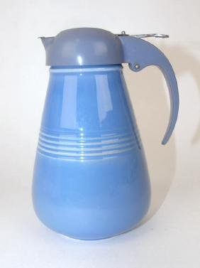 Fiesta Harlequin syrup pitcher, mauve blue