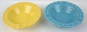 Fiesta Harlequinbasketweave ashtray group: yellow &