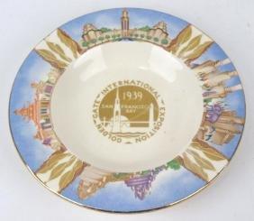 Fiesta 1939 Golden Gate Exposition ashtray