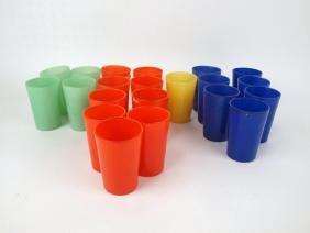 Fiesta glass go-along lot of 21 juice tumblers
