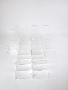 Plexiglass lot of 6 plate stands/racks