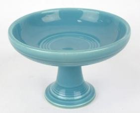 Fiesta sweets compote, turquoise, marked HLC