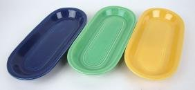 Fiesta utility tray group: cobalt, green, & yellow