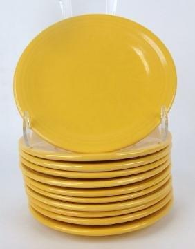 "Fiesta 6"" plate group: 11-yellow"
