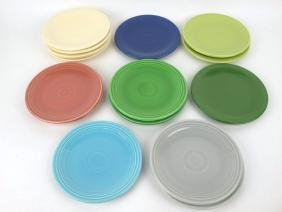"""Fiesta 6"""" plate group: 16 mixed colors"""