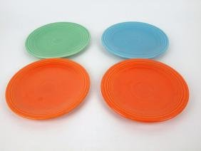 """Fiesta 6"""" plate group: 4 mixed colors"""