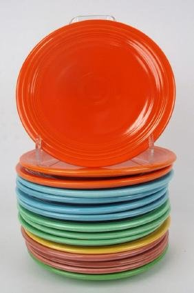 """Fiesta 7"""" plate group, 15 mixed colors"""
