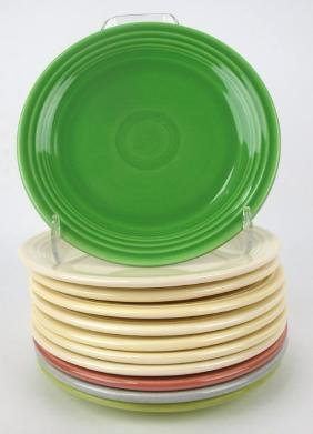 """Fiesta 7"""" plate group, 11 mixed colors"""
