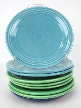 """Fiesta 7"""" plate group, 9 mixed colors"""