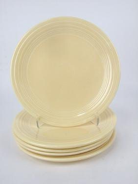 "Fiesta 10"" plate group: 5 ivory"