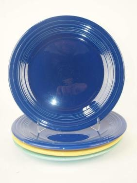 "Fiesta 10"" plate group: 2-cobalt, yellow, & turquoise"