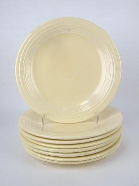 "Fiesta 10"" plate group, 8-ivory"