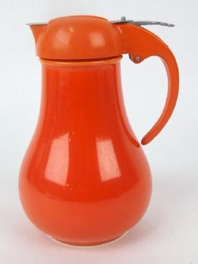 Fiesta syrup pitcher, red