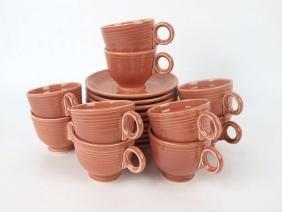 Fiesta cup & saucer group: 10-rose