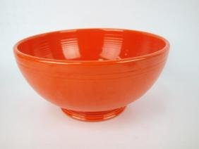 Fiesta footed salad bowl, red, monor nick