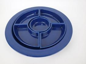 Fiesta relish tray, all cobalt