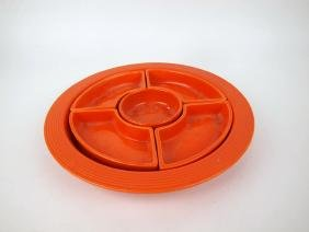 Fiesta relish tray, all red