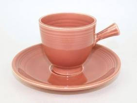 Fiesta demitasse cup & saucer, rose