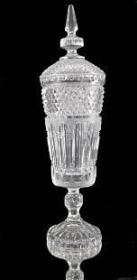 Lidded Vase Cut Crystal 60s