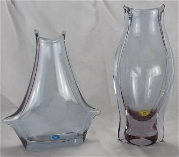 2x Alexandrite Fish Mouth Vase | Železný Brod (ZBS) |