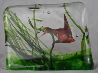 Murano | Gino Cenedese | Glass Block Aquarium | 50-60s
