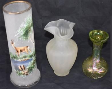 3x | Art - Deco / Art- Nouveau | Bohemian Vases