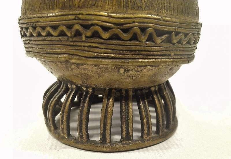 Ashanti Gold Dust Box | Ghana | Brass - 8