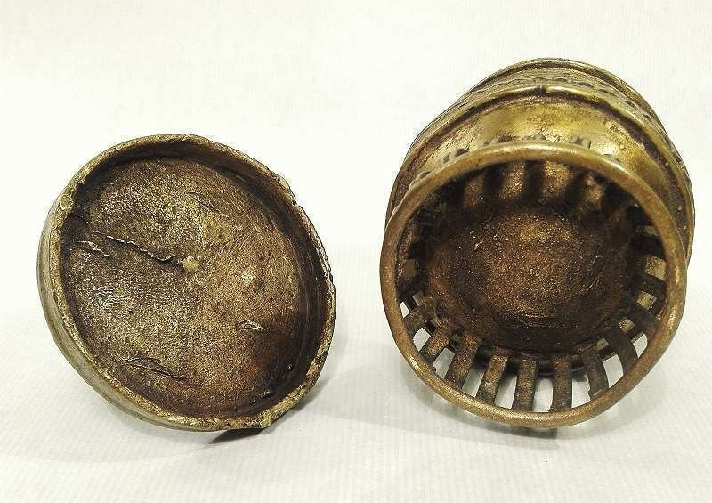Ashanti Gold Dust Box | Ghana | Brass - 9