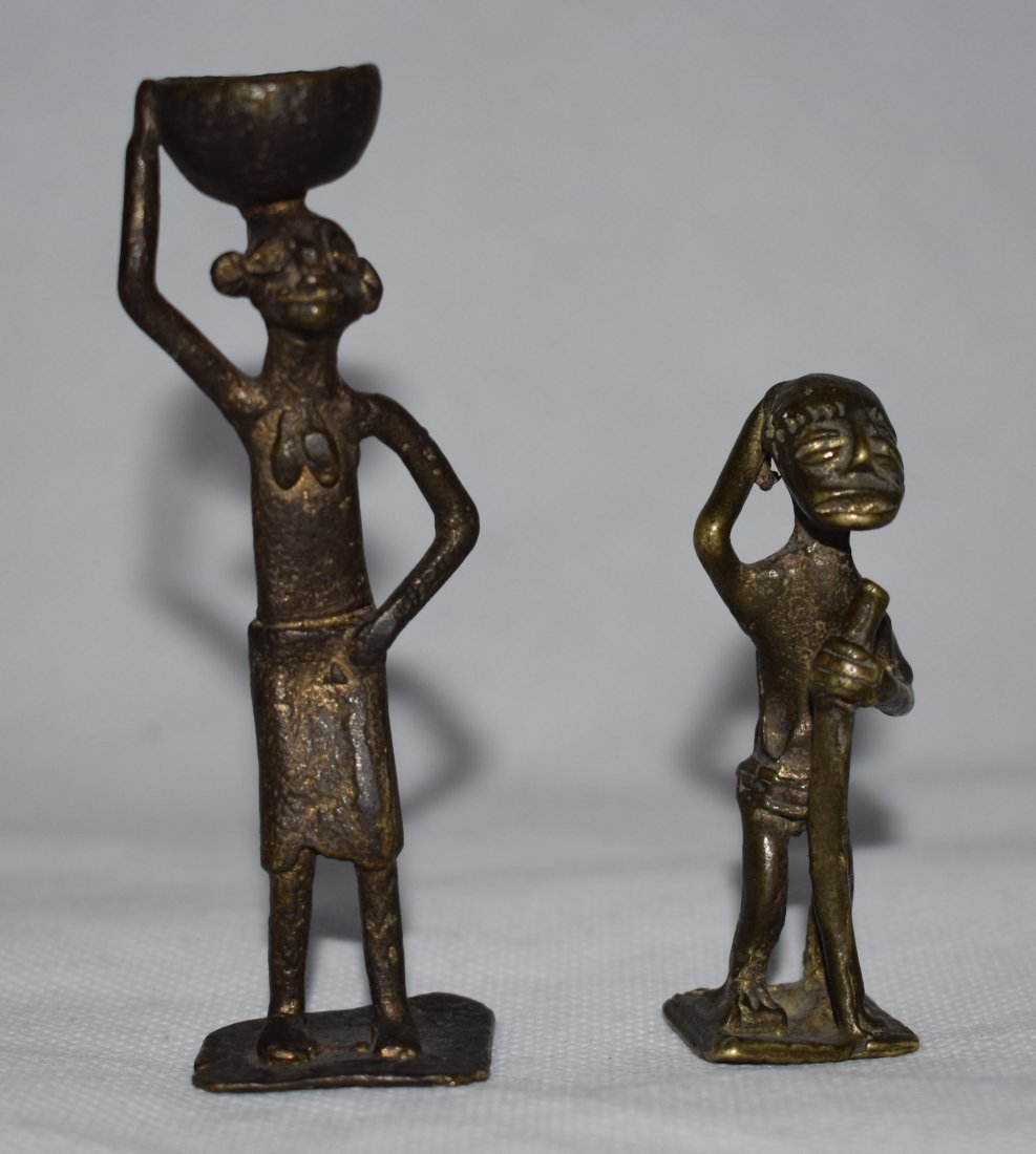 2 Late 19th C Krobo & Ashanti Brass | Gold Weights