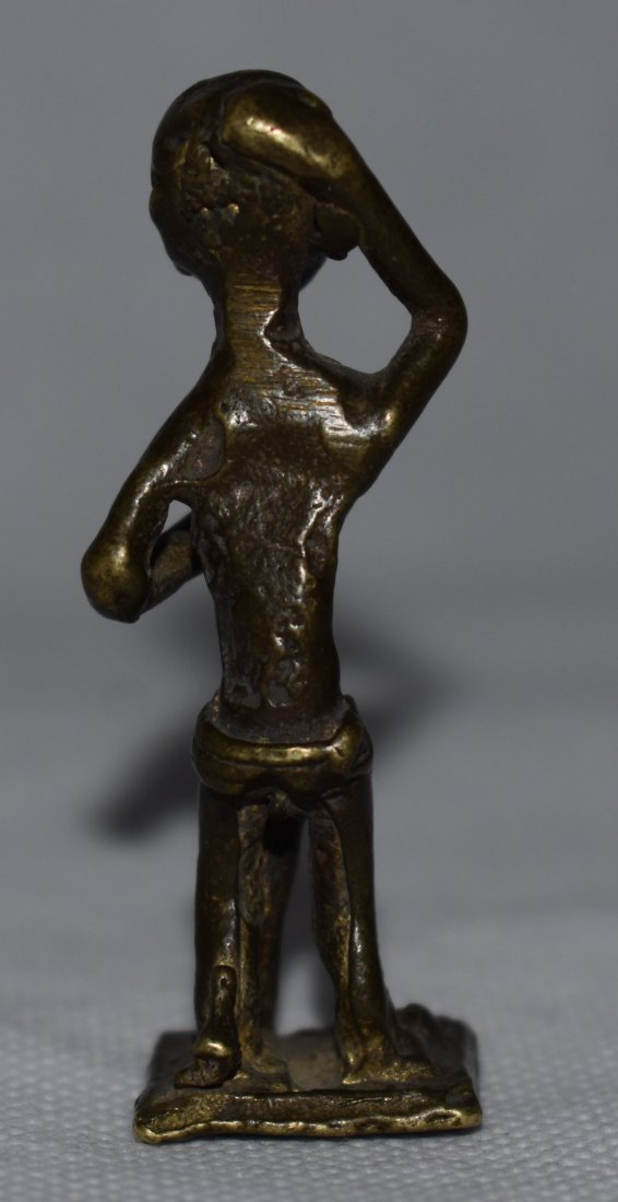 2 Late 19th C Krobo & Ashanti Brass | Gold Weights - 5