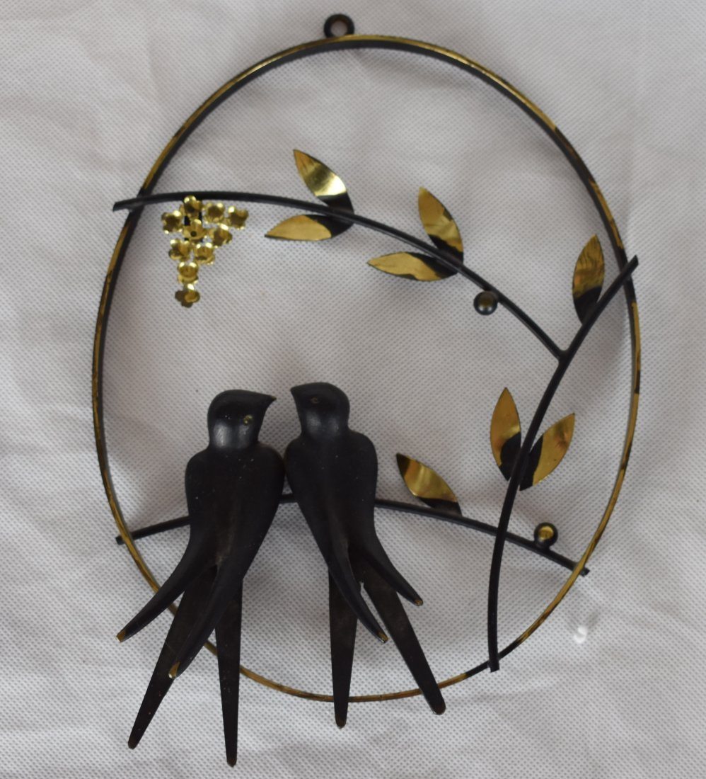 Walter Bosse | Brass Wire Wall Picture | Swallows