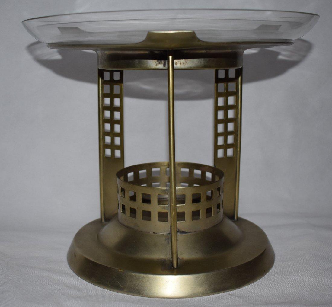 Centerpiece | Pierced metal | Glass