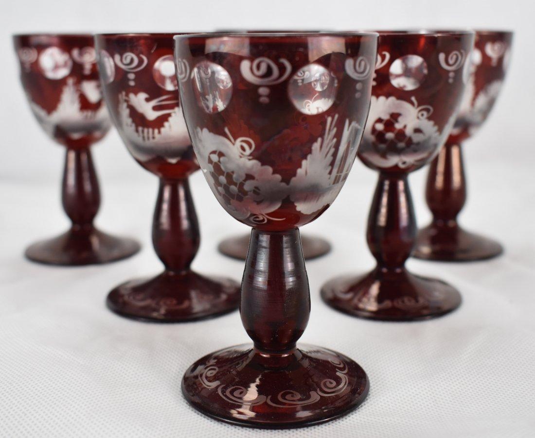 Egermann Liqueur Glasses | Bohmeian Glass | 6 Vessels