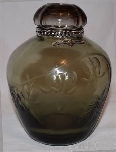 ArtDeco Bleeding Heart Lidded Vase