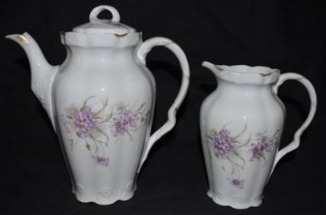 Pfeiffer Lwenstein Mocca pot Creamer 1892