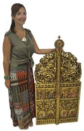 Greek Orthodox Icon | Royal Doors | 19th Century