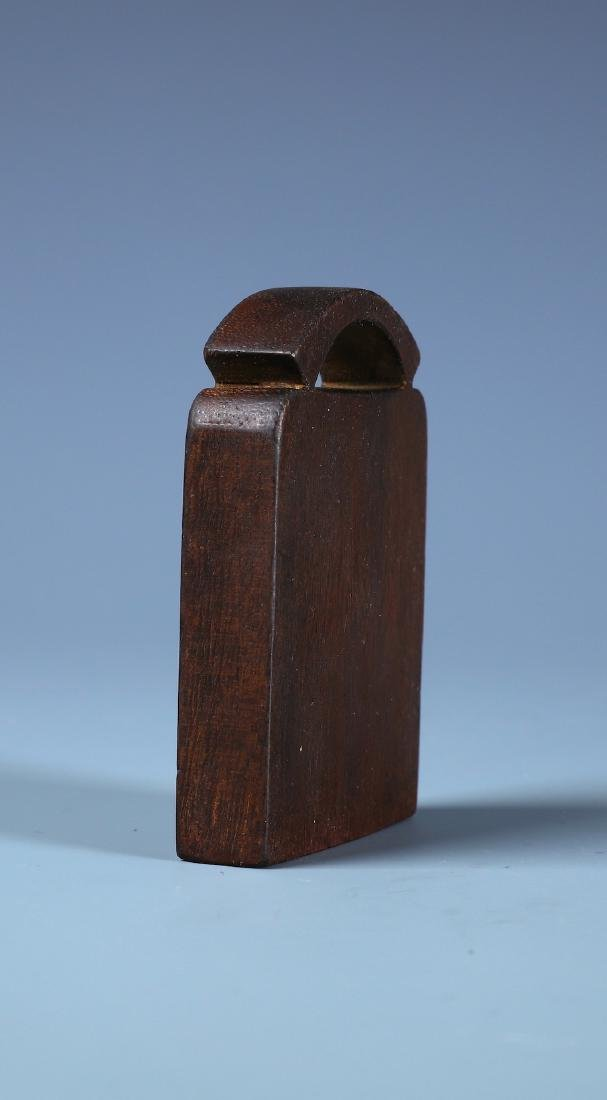 A FINELY CARVED ALOESWOOD BAMBOO PLAQUE WITH - 6