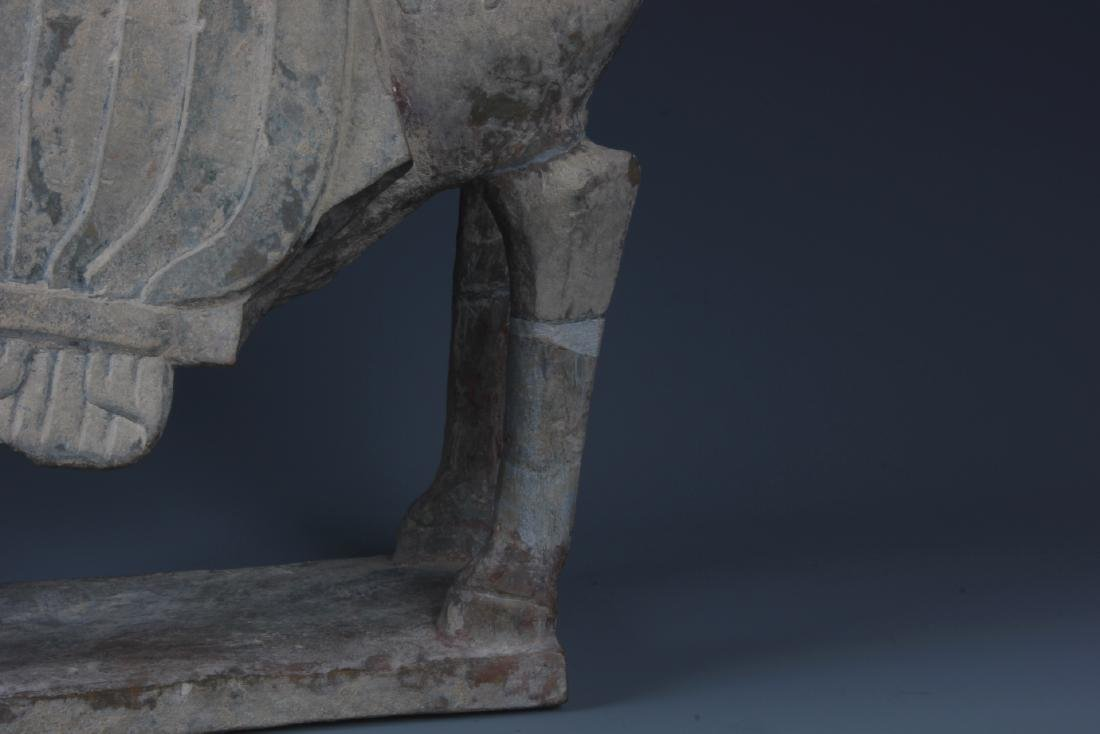 A FINELY CARVED CHINESE STONE FIGURE OF HORSE - 7