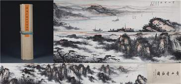 A Fine Chinese Scroll Painting Signed by Dong Shou