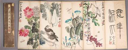 A Fine Chinese Handdrawn Painting Album of Flowers and