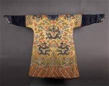 An Important and Imperial Chinese Yellow Ground Silk